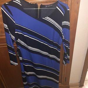 Multicolored business casual dress